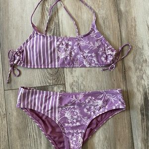 O'Neill bathing suit white and purple